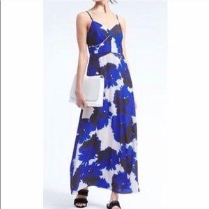 Banana Republic floral panel maxi dress. Size 10.